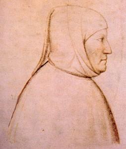 Petrarch - portrait by Altichiero, Italian, circa 1370-1380