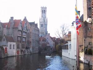 Canal at Rozenhoedkaai, Bruges, Belgium