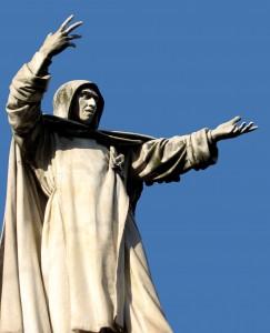 Savonarola Monument Ferrara, Italy