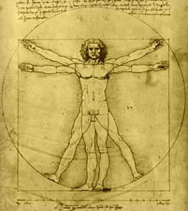 Vitruvian Man, Leonardo da Vinci, 1487, Venice